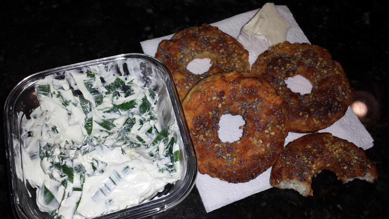 Low Carb Bagel with cream cheese